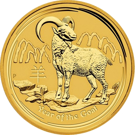 Perth Mint Lunar Goat Gold Coins On Sale in September 2014