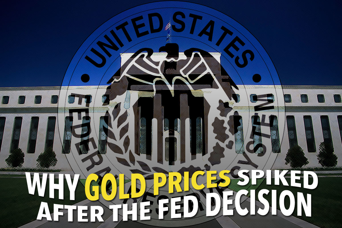 Why gold prices spiked after the Fed decision