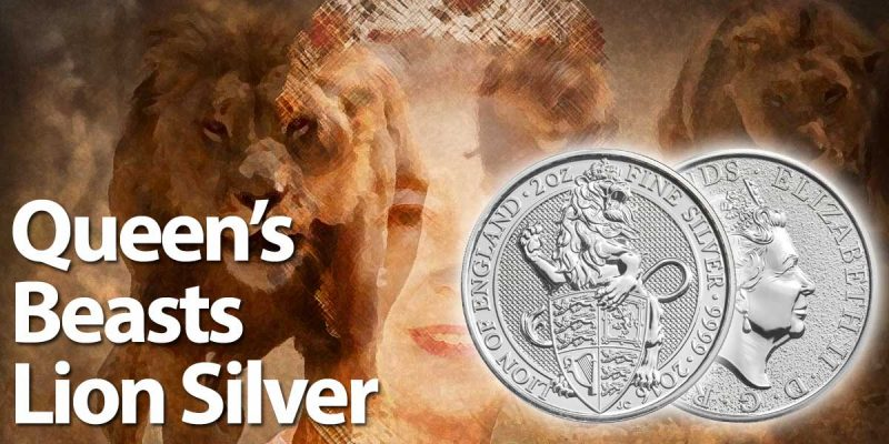 Queen's Beasts Lion Silver