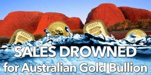 australian gold-bullion sales drowned
